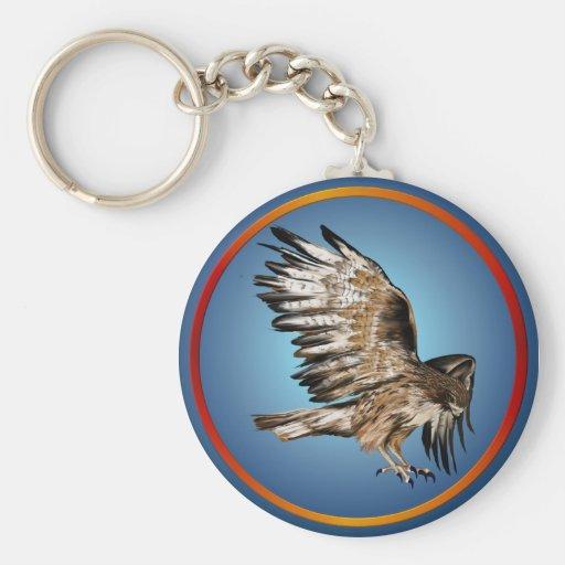 Llavero del halcón del vuelo