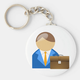Llavero del hombre de negocios y de la cartera