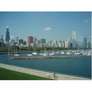 Llavero del horizonte de Chicago Llavero Fotográfico