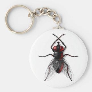 Llavero del insecto de la mosca