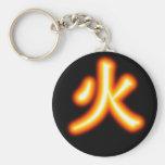 Llavero del kanji del fuego