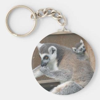 Llavero del Lemur de la madre y del bebé