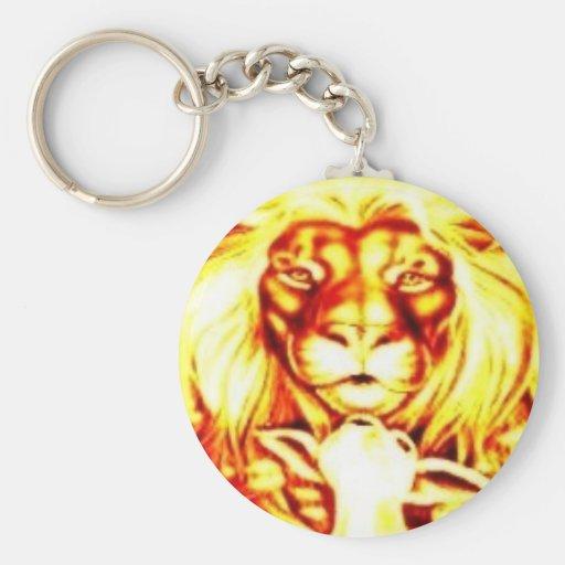 Llavero del león y del cordero