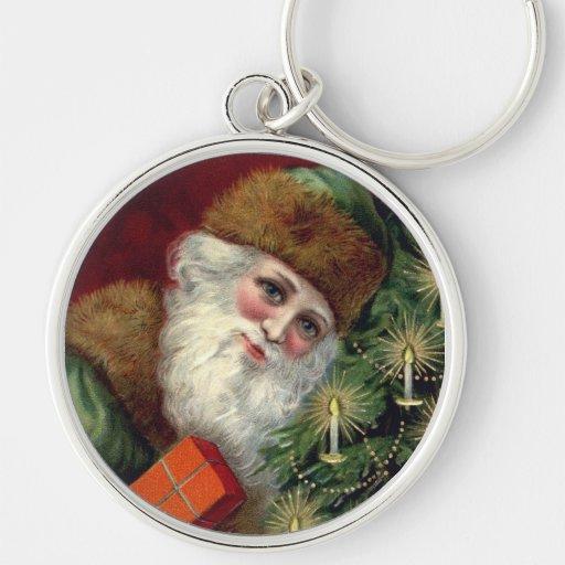 Llavero del llavero del navidad de Papá Noel del