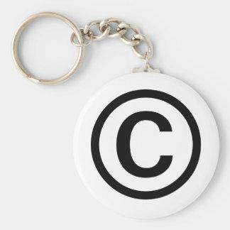 Llavero del logotipo de Copyright (negro)