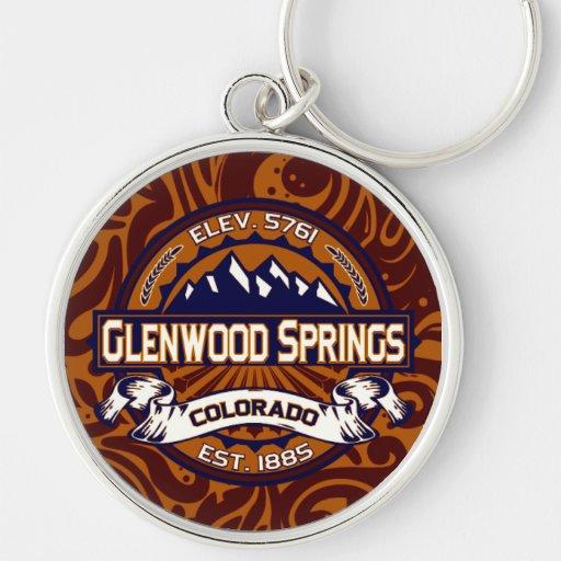 Llavero del logotipo de Glenwood Springs