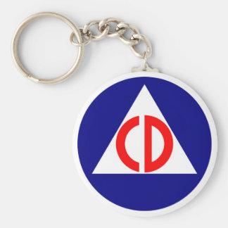 Llavero del logotipo de la defensa civil