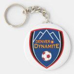 Llavero del logotipo de la dinamita de Denver