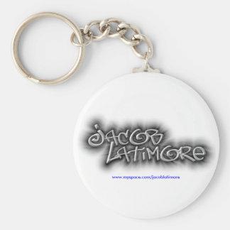 Llavero del logotipo de la firma de Jacob Latimore