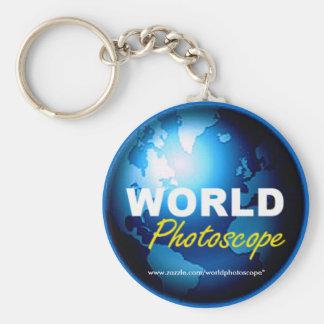 Llavero del logotipo de Photoscope del mundo