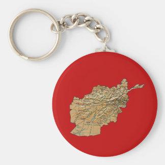 Llavero del mapa de Afganistán