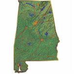 Llavero del mapa de Alabama cortado Escultura Fotografica