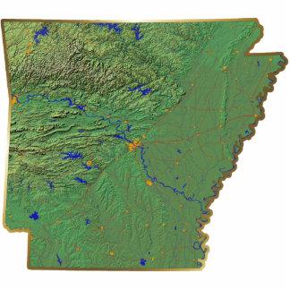Llavero del mapa de Arkansas cortado Llavero Fotográfico