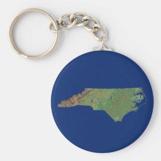 Llavero del mapa de Carolina del Norte