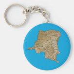 Llavero del mapa de Congo-Kinshasa