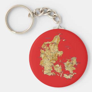 Llavero del mapa de Dinamarca