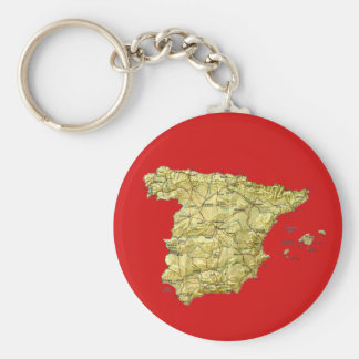 Llavero del mapa de España