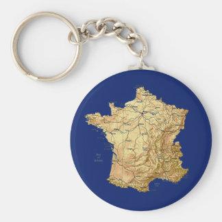 Llavero del mapa de Francia