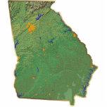 Llavero del mapa de Georgia cortado Esculturas Fotográficas