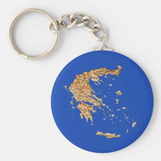 Llavero del mapa de Grecia