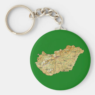 Llavero del mapa de Hungría