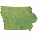 Llavero del mapa de Iowa cortado Esculturas Fotográficas