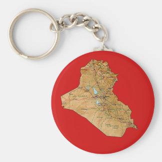 Llavero del mapa de Iraq