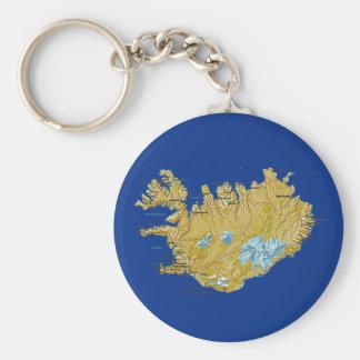 Llavero del mapa de Islandia