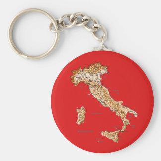 Llavero del mapa de Italia