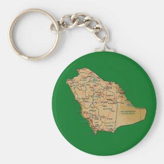 Llavero del mapa de la Arabia Saudita