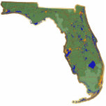 Llavero del mapa de la Florida cortado Escultura Fotografica