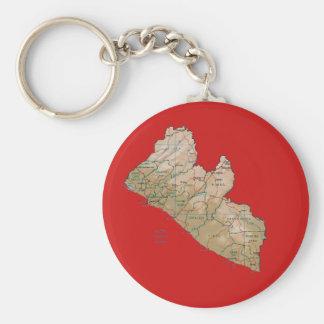 Llavero del mapa de Liberia