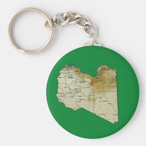 Llavero del mapa de Libia