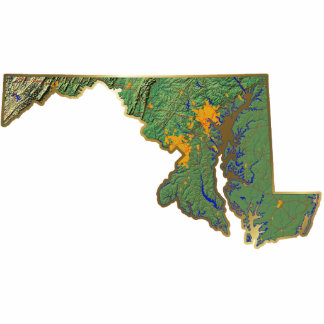 Llavero del mapa de Maryland cortado Llavero Fotográfico