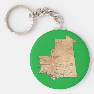 Llavero del mapa de Mauritania