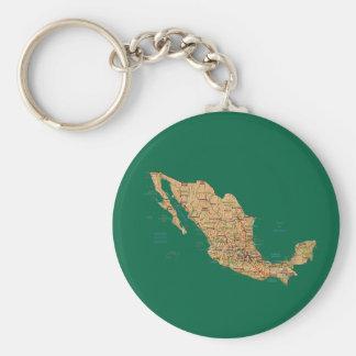 Llavero del mapa de México