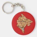 Llavero del mapa de Montenegro