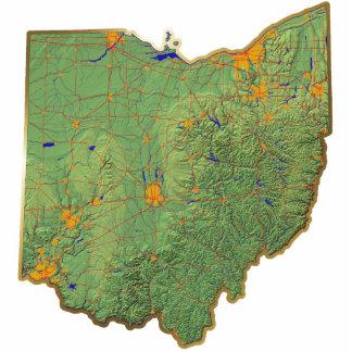 Llavero del mapa de Ohio cortado Escultura Fotográfica