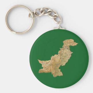 Llavero del mapa de Paquistán