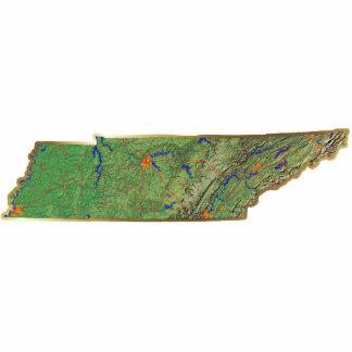 Llavero del mapa de Tennessee cortado Escultura Fotografica