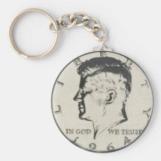 Llavero del medio dólar de JFK