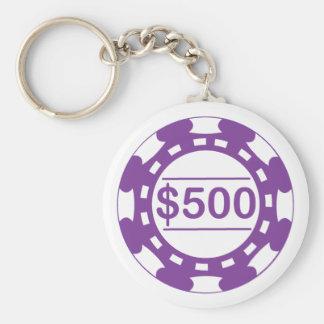 Llavero del microprocesador de $500 casinos