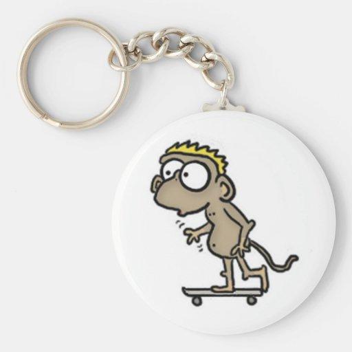 Llavero del mono del monopatín