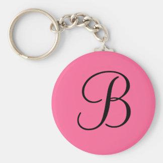 """Llavero del monograma de """"B"""""""