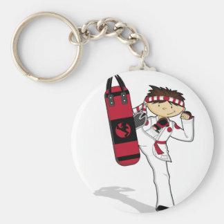Llavero del muchacho del karate