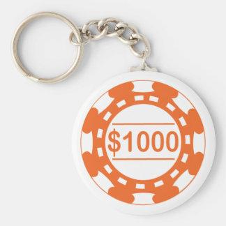 Llavero del naranja del microprocesador de $1000 c