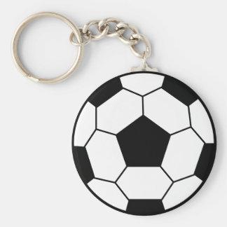 Llavero del negro del balón de fútbol