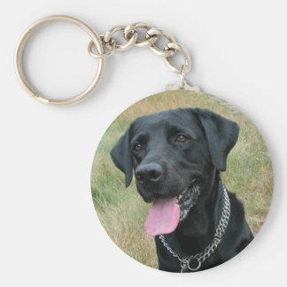 Llavero del negro del perro del labrador retriever
