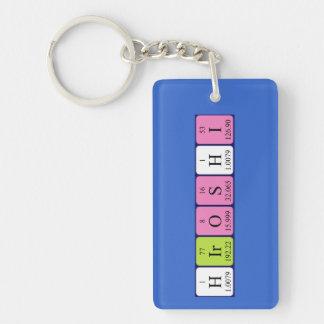 Llavero del nombre de la tabla periódica de