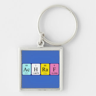 Llavero del nombre de la tabla periódica de Achraf